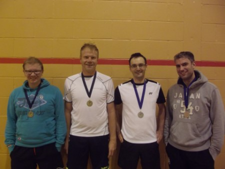 L to R: Winners Richard & Leo; Runners Up Andy & Patrick